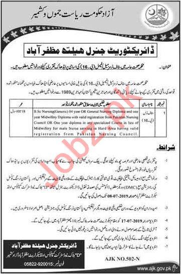 Health Department Jobs For Staff Nurses in Muzaffarabad AJK