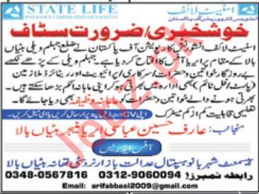State Life Insurance Corporation of Pakistan AJK Jobs 2019