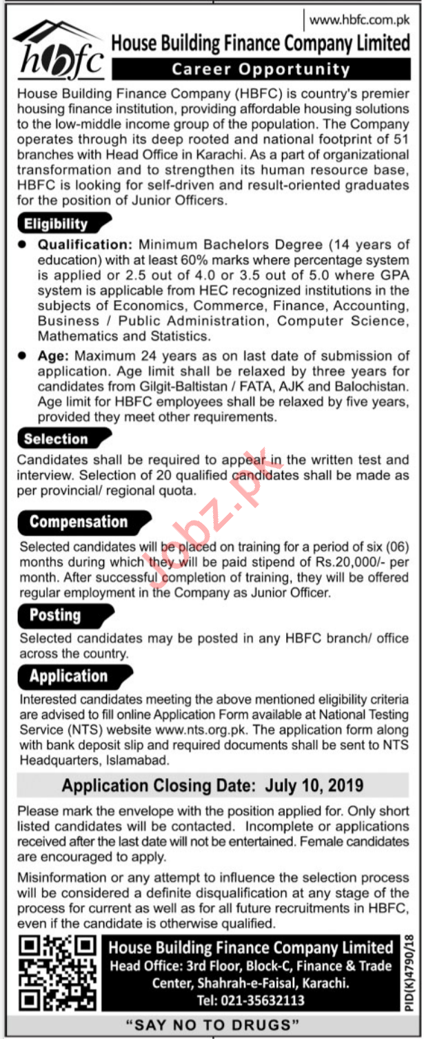 House Building Finance Company Limited HBFCL Jobs 2019