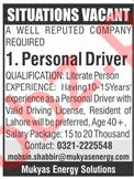 Mukyas Energy Solutions Lahore Jobs for Drivers