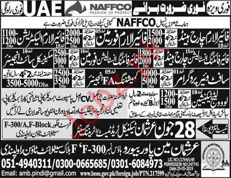 NAFFCO Company Jobs 2019 For UAE 2019 Job Advertisement Pakistan