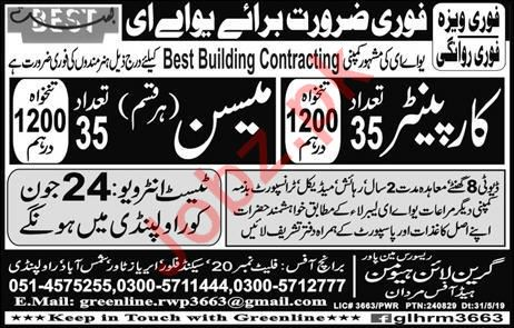 Best Building Contracting Company Jobs 2019 For UAE