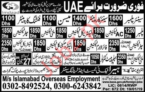 Imdaad Group Jobs 2019 in UAE