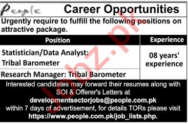 Data Analyst Research Manager Jobs in Lahore