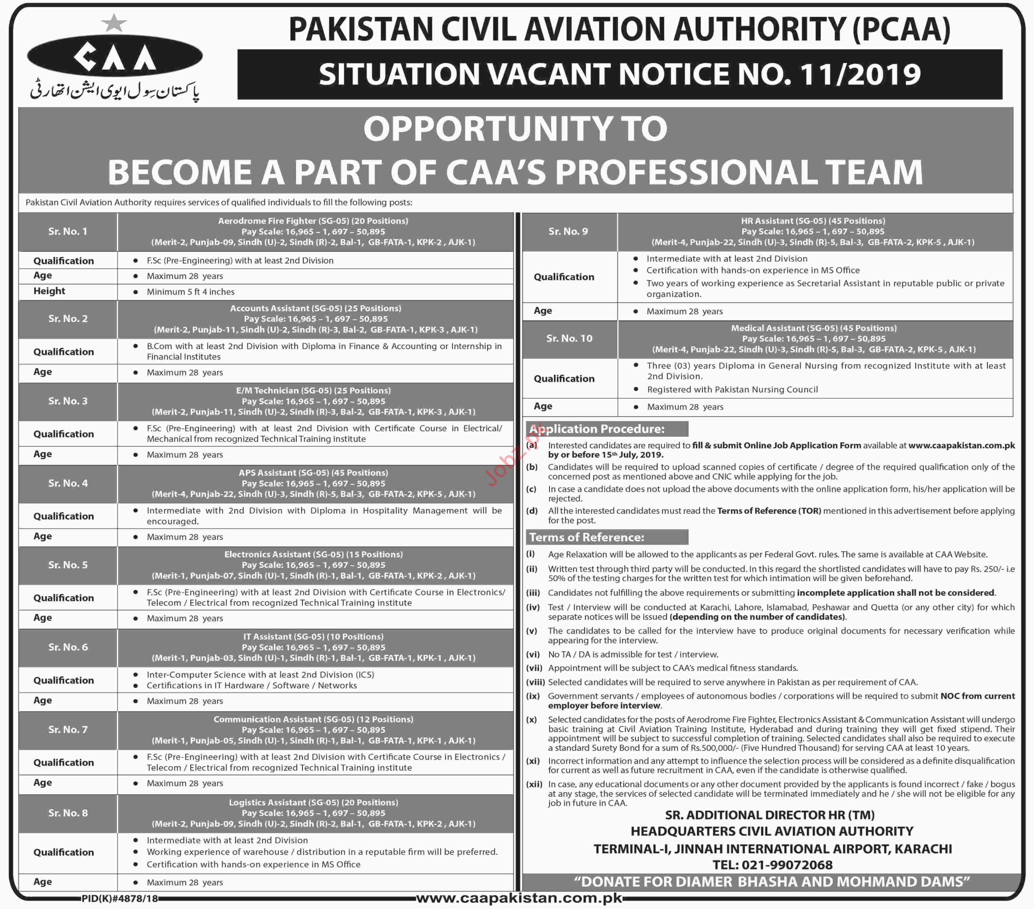 Pakistan Civil Aviation Authority CAA Jobs in Karachi