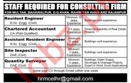 Resident Engineer Chartered Accountant Jobs in Multan