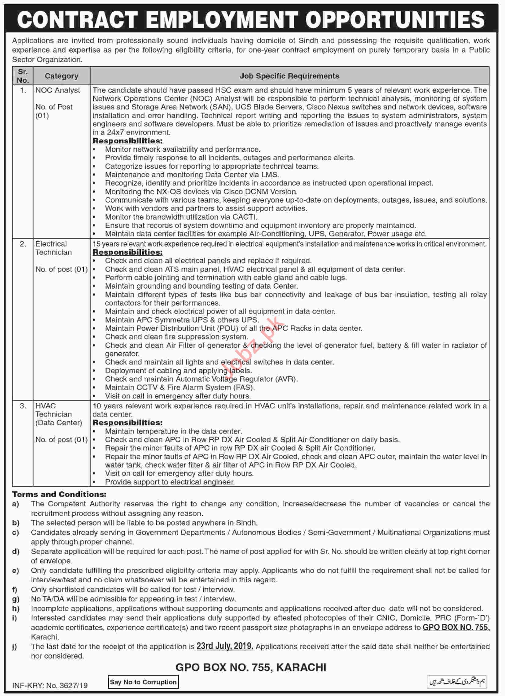 Public Sector Organization Jobs 2019 in Sindh