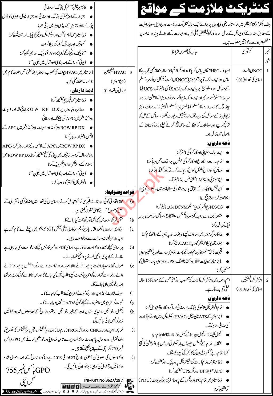 Public Sector Organization Jobs 2019 in Karachi