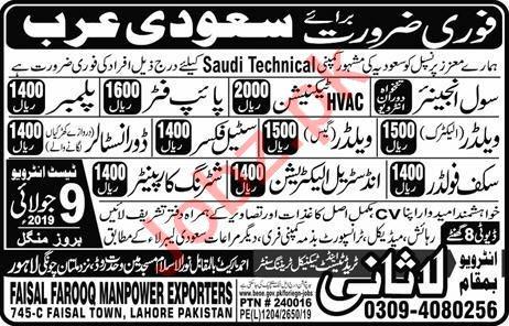 Civil Engineer & HVAC Technician Job in Saudi Arabia