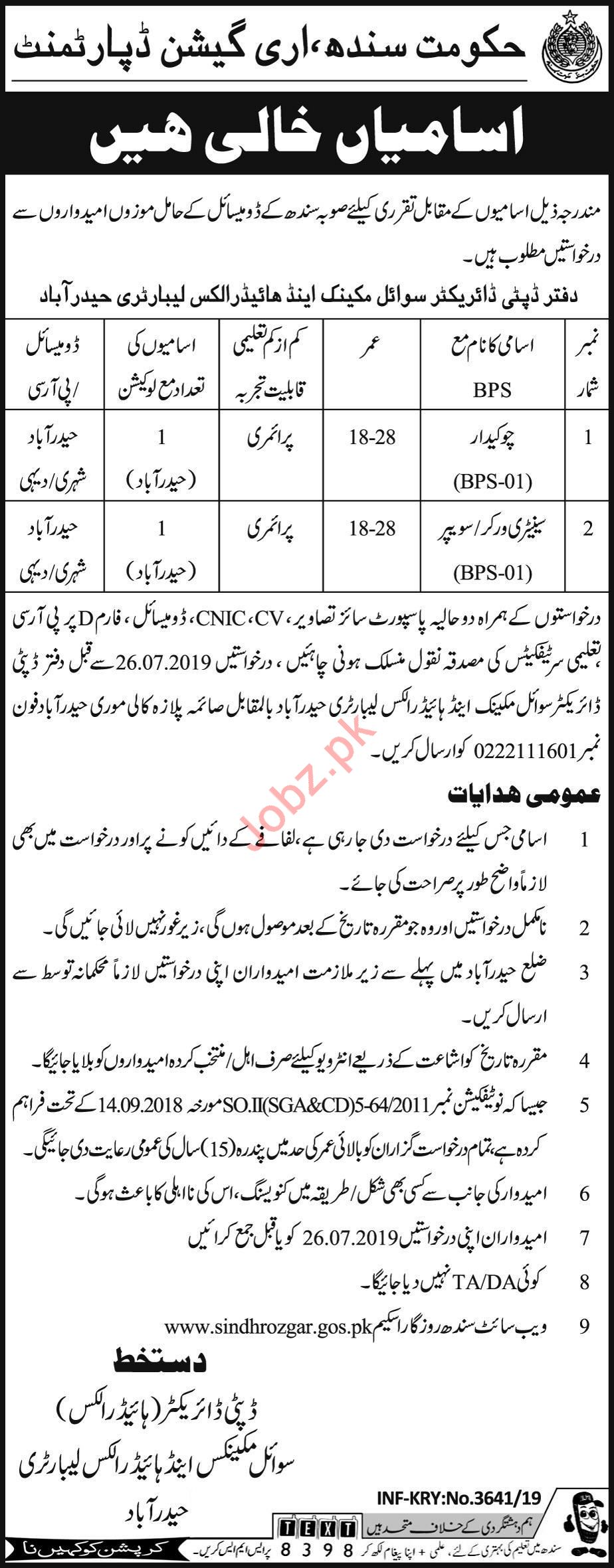 Irrigation Department Jobs 2019 For Hyderabad