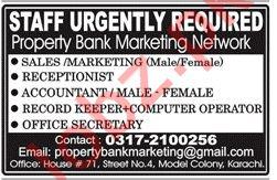 Property Bank Marketing Network Jobs 2019 in Karachi