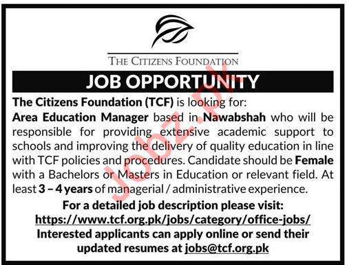 The Citizens Foundation TCF Job 2019 in Nawabshah