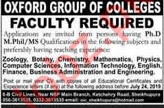 The Oxford College Jobs 2019