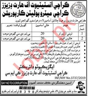 Karachi Institute of Heart Diseases Jobs in Hyderabad