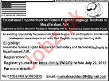 English Language Teachers Jobs 2019 in Muzaffarabad AJK