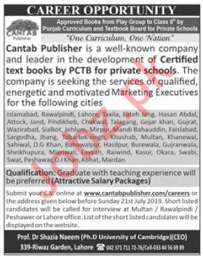 Cantab Publisher Company Jobs 2019