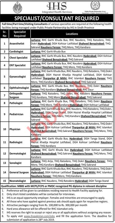 Integrated Health Services IHS Jobs 2019