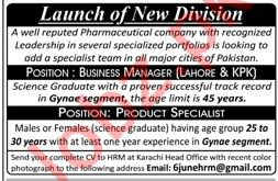 Business Manager & Product Specialist Jobs 2019