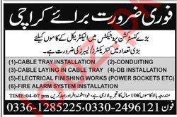 Electrical Technicians & Labors Jobs 2019 in Karachi