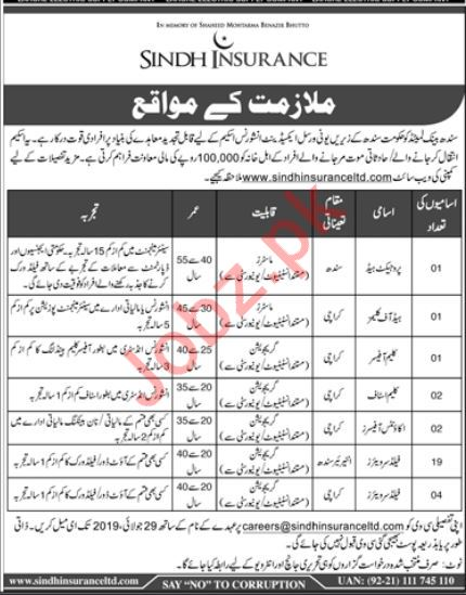 Sindh Bank Limited Jobs 2019 For Karachi