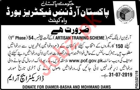 Pakistan Ordnance Factories POF Jobs 2019 in Wah Cantt