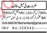 Teaching Jobs 2019 For School in Peshawar KPK