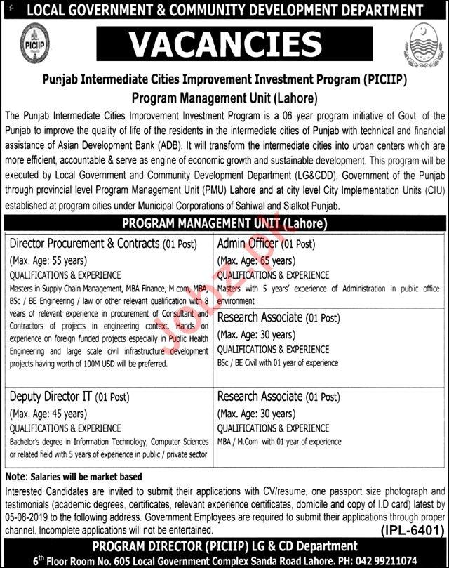 Local Government & Community Development Department Jobs