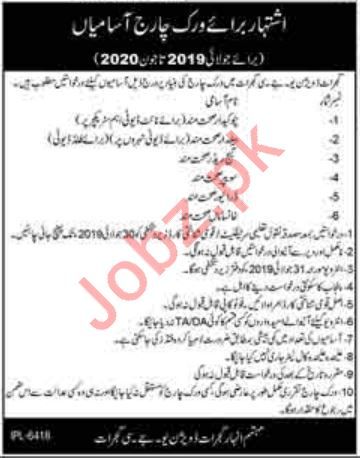 Irrigation Department Jobs 2019 in Gujrat