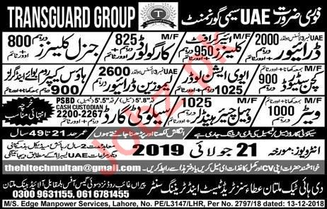 Cargo Loader & Aviation Loader Jobs 2019