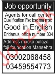 Call Center Staff Jobs in Mansehra
