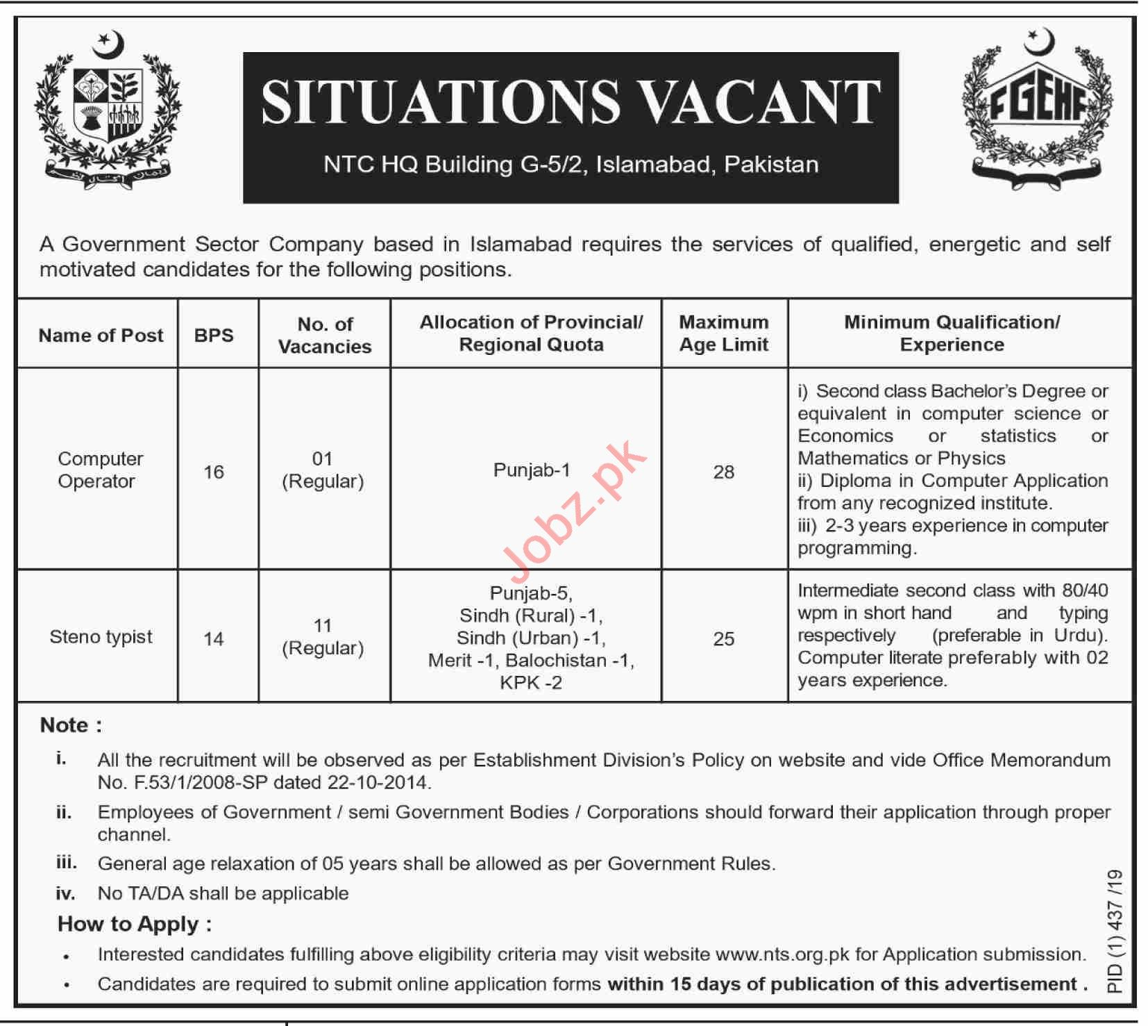 Government Apartments: Federal Government Employees Housing Foundation Jobs 2019
