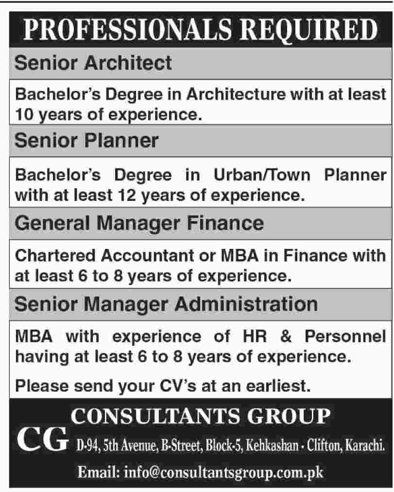 Consultant Group CG Staff Jobs 2019