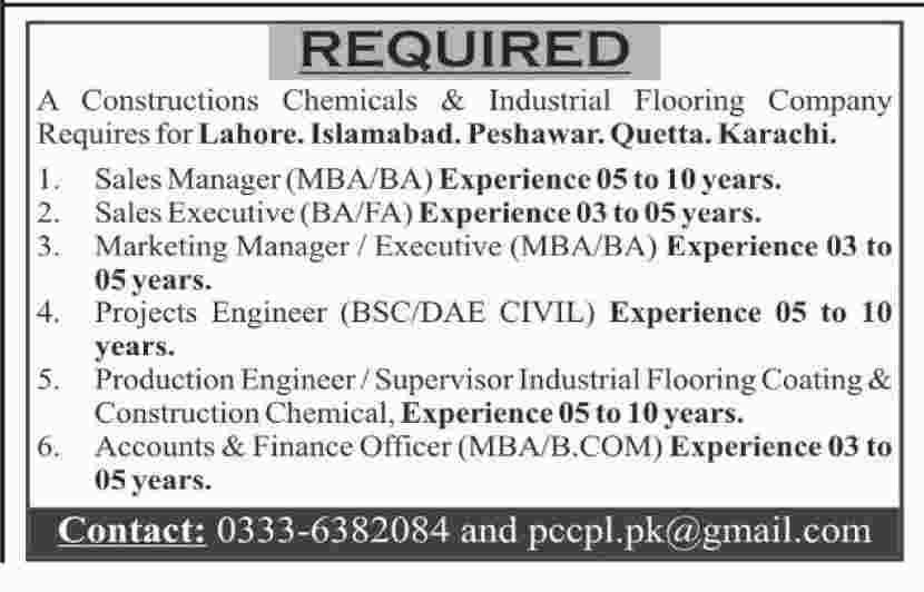 Sales & Marketing Manager & Staff Jobs in Karachi