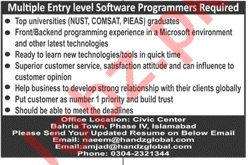 Software Programmer Jobs 2019 in Islamabad