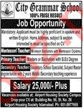 City Grammar School Rawalpindi Jobs 2019 for Teachers