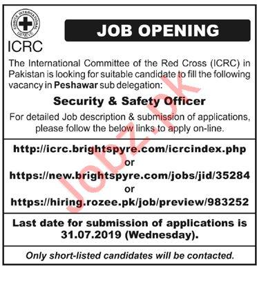 International Committee of Red Cross ICRC NGO Jobs 2019