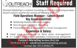 Outreach Marketing Services Lahore Jobs 2019