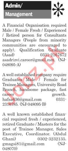 The News Sunday Classified Ads 21st July 2019 Admin Staff