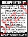 Solution Provider Company Jobs 2019 in Karachi