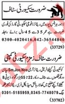 Nawaiwaqt Sunday Classified Ads 21st July 2019 for Security