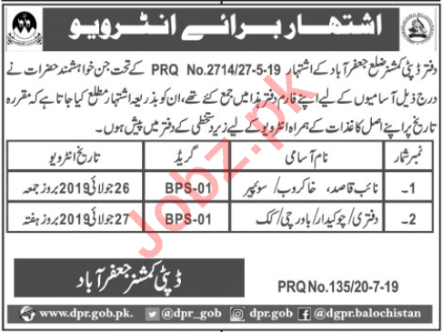Deputy Commissioner DC Jaffarabad Jobs Interview 2019