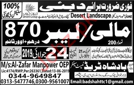 Desert Landscape Company Job 2019 For Dubai UAE