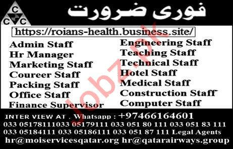 Admin Staff Engineering Staff Medical Staff Jobs in Qatar
