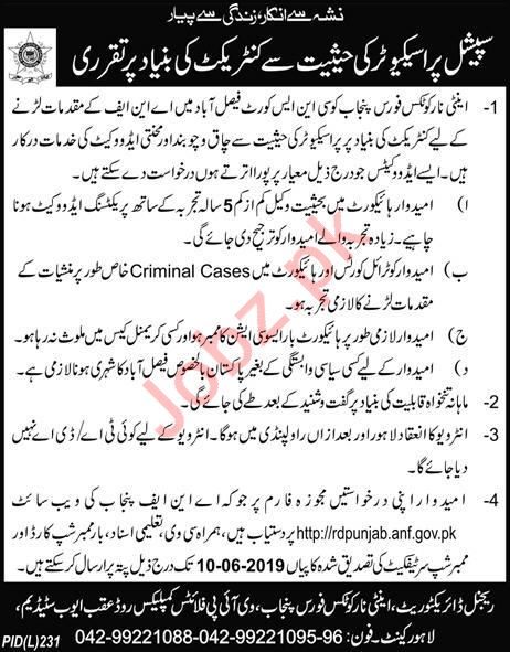 CNS Court Faisalabad Advocate Job 2019