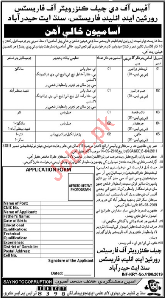 Forest Department Jobs in Hyderabad