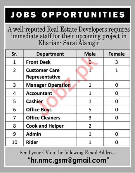 Real Estate Developers Jobs 2019 in Kharian
