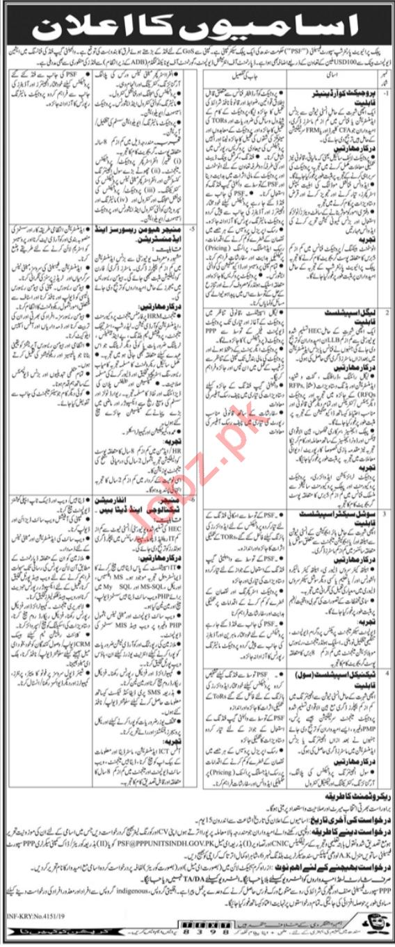 Public Private Partnership Unit Jobs 2019 in Karachi