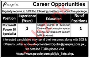Microsoft Power BI Specialist Job in Peshawar