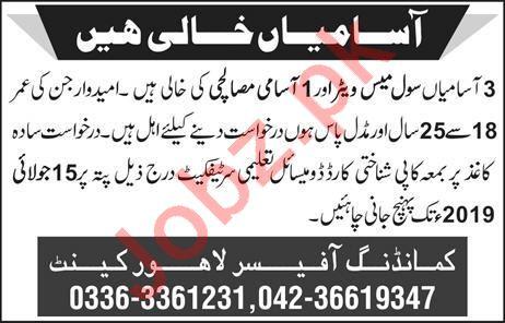 Pakistan Army Civil Mess Jobs