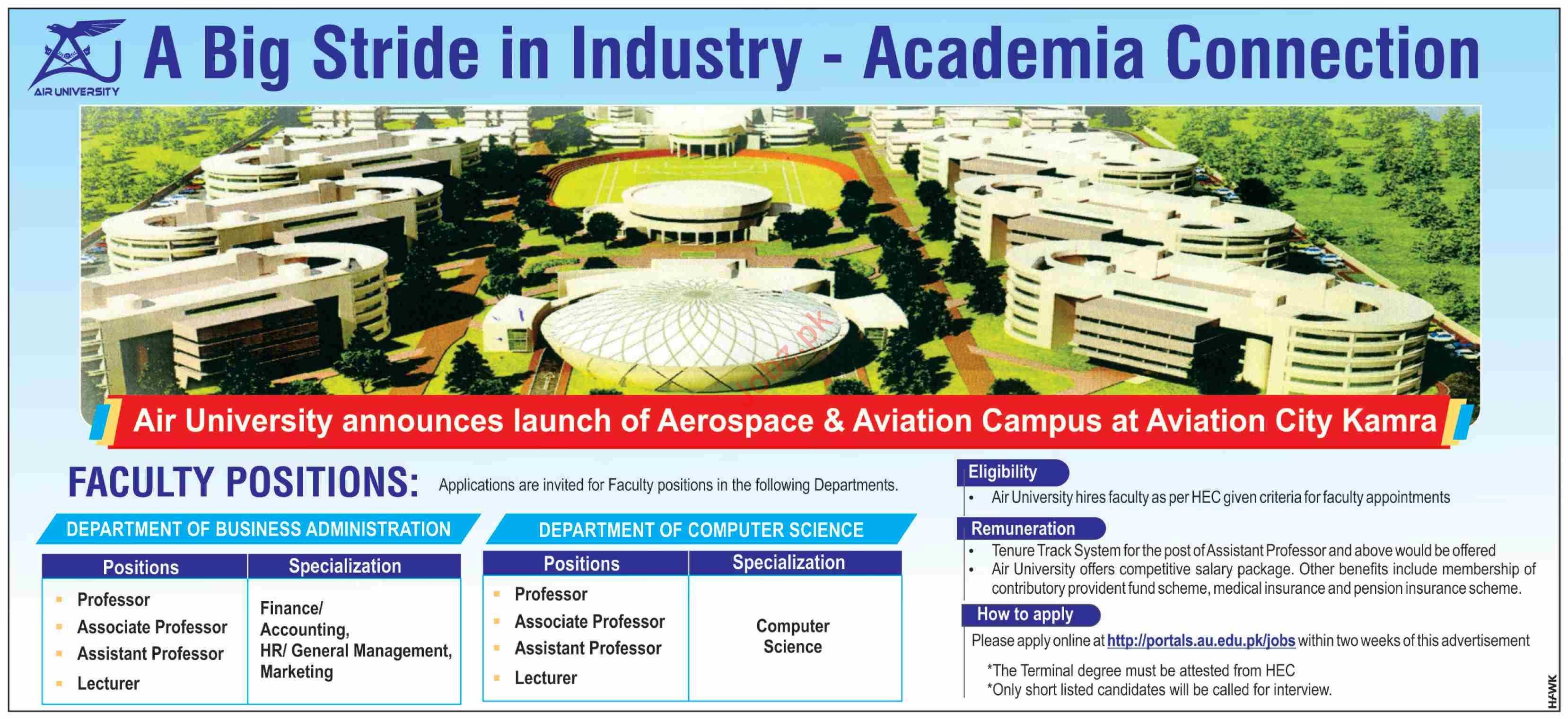 Air University Aviation Campus Jobs in Kamra